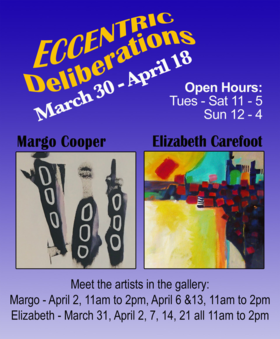 Margo Cooper and Elizabeth Carefoot at Gage Gallery @ Gage Gallery Arts Collective Mar 30 2021 - Apr 15th @ Gage Gallery Arts Collective