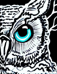 Blue Eyed Owl by  Leah Craig