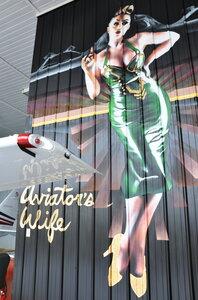 "Captain Steve's Cessna 182 hangar ""Aviator's Wife"" photo: Lotus Johnson by  Peter Allen"