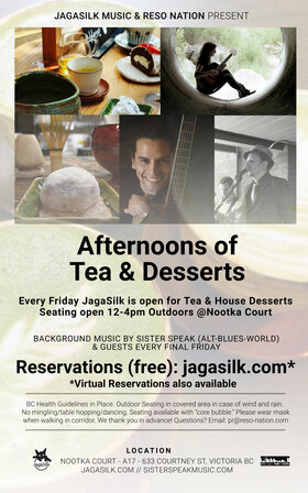Afternoons of Tea and Desserts with Background Music: Sister Speak @ Jagasilk (Outdoors) Mar 26 2021 - Apr 21st @ Jagasilk (Outdoors)