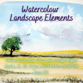 Watercolour Landscape Elements @ On Zoom Apr 27 2021 - Apr 17th @ On Zoom