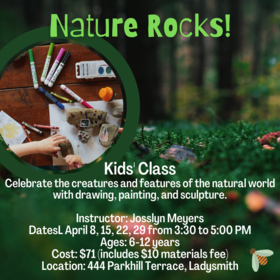 Kids Art Classes: Nature Rocks! @ Ladysmith Waterfront Gallery Apr 29 2021 - Apr 16th @ Ladysmith Waterfront Gallery