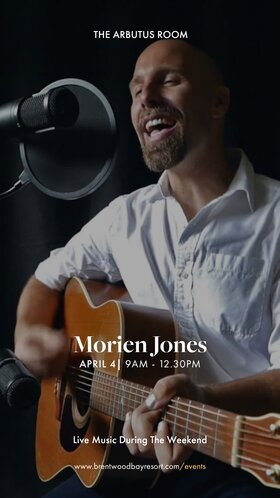 Easter Brunch Live Mojo Music with Morien Jones: Morien Jones @ Brentwood Bay Resort And Spa Apr 4 2021 - Apr 21st @ Brentwood Bay Resort And Spa
