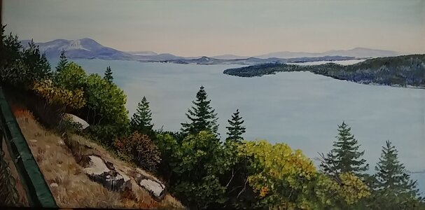 A View Off the Malahat by  Laurel Rossnagel