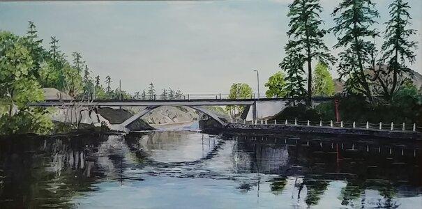 Bridge on Gorge Waterway by  Laurel Rossnagel