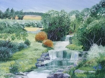 Waterfalls and Reflections by  Laurel Rossnagel