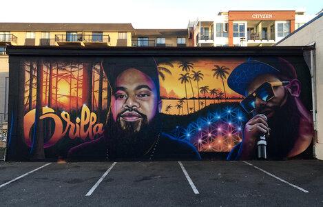 Orrilla Tribute Mural by  Ian George,  Def3,  Logan Ford,  Orrie Tetoga Falesau