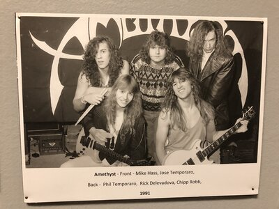 Photo- This Image hangs in the Sault Ste Marie Museum\'s permanent Local Music Exhibition  -   Amethyst  +  Sault Ste Marie Museum