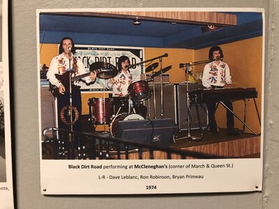 Photo- Photo from the permanent Local Music Exibition at he Sault Ste Marie Museum  -   Black Dirt Road