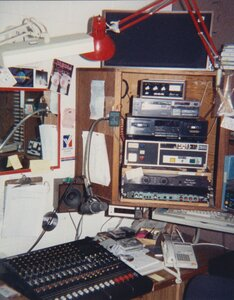 Photo- CKDA production studio 1993  -   CKDA  - Photo Credit:  Ian Yates