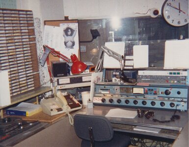 Photo- CKDA control room 1993  -   CKDA  - Photo Credit:  Ian Yates