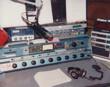 Photo- CKDA mixing board 1993  -   CKDA  - Photo Credit:  Ian Yates
