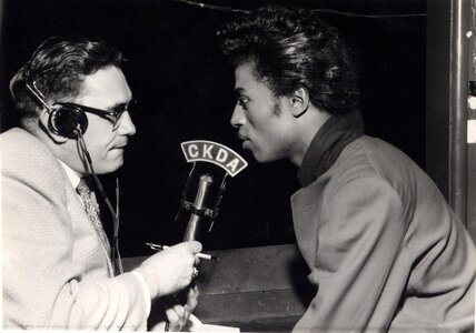 Photo- Norm Pringle interviewing Little Richard in 1958  -   CKDA