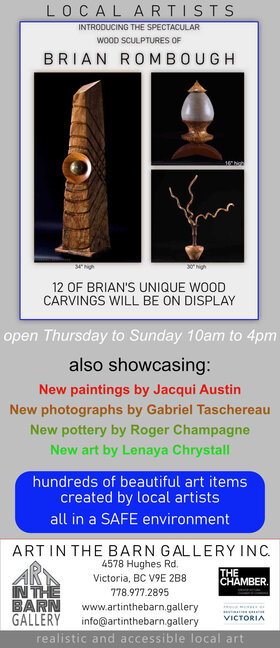 5 Artists Art Show: jacqui austin, Brian Rombough, Gabriel Taschereau, Lenaya Chrystall, Roger Champagne @ Art In The Barn Gallery Apr 8 2021 - Apr 21st @ Art In The Barn Gallery