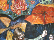 Joyful/Umbrellas by  Laura Bonnie