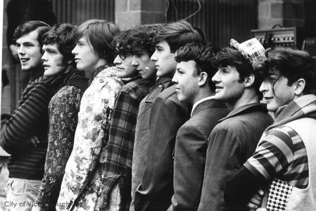 Photo- Beacon Hill Park May 21, 1967 with other band members at Victoria\'s First \