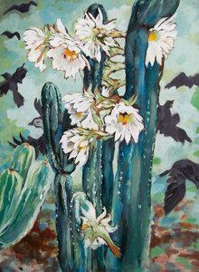 Cactus Crows by  Laura Bonnie