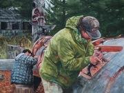 Haida Carvers by  Harold Allanson