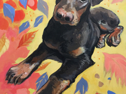 Mickey (portrait of a dog) by  Laura Bonnie
