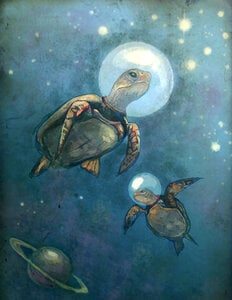 Serenity (Space Turtles) by  Laura Bonnie