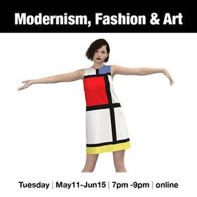 Modernism, Fashion and Art @ Online Jun 1 2021 - Oct 17th @ Online