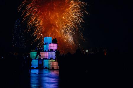 Think Cubes NYE 2017 by  Monkey C Interactive, Interarts