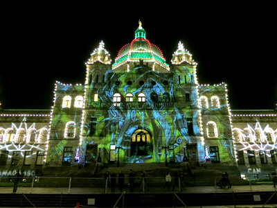 Parliament Projections NYE 2017 by  Luke Ramsey, Interarts