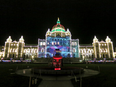 Parliament Building Projections NYE2017 by  Luke Ramsey, Interarts