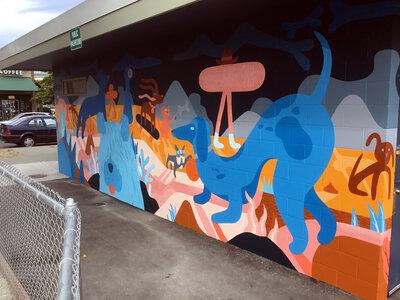 Vic West Mural by  Luke Ramsey, Jill Stanton