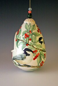 Chickadee feeder by  Cindy Gibson
