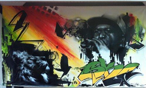 Barrington Levy by  Steve Feltham, AKA VERSE