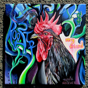 Rooster Study by  Nicole Majcher