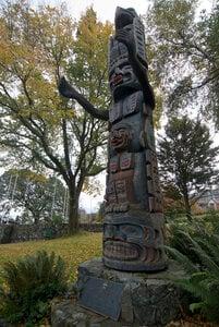 Kwakiutl Totem Pole by  James Dick