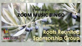 Zoom Music Bingo Fundraiser in support of the Roots Reunited Sponsorship Group @ Online Jun 19 2021 - Oct 17th @ Online
