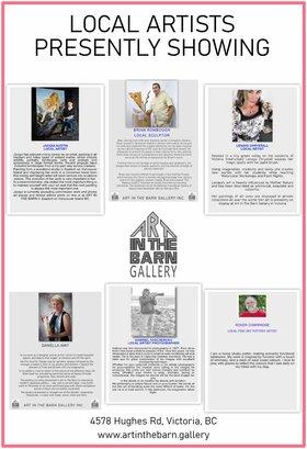 6 ARTISTS ART SHOW: jacqui austin, Gabriel Taschereau, Daniella Amit, Lenaya Chrystall, Roger Champagne, Brian Rombough @ Art In The Barn Gallery May 16 2021 - Oct 17th @ Art In The Barn Gallery