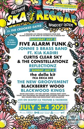 Live from the Crooked Gates!: Five Alarm Funk, Jonnie 5 Brass Band, Kia Kadiri, Curtis Clear Sky and the Constellationz, Reflectionz @ The Crooked Gates Jul 3 2021 - Sep 26th @ The Crooked Gates