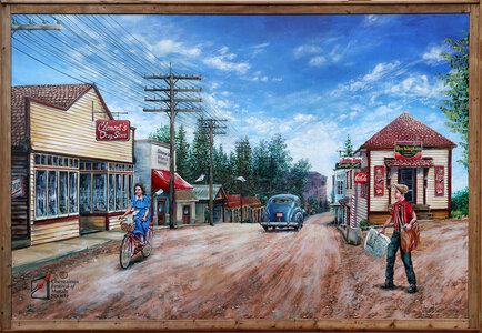 Chemainus Road Circa 1945 by  Kris Friesen