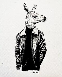 Lloitering - Original Pen and Ink Artwork by  Adam Bartosik