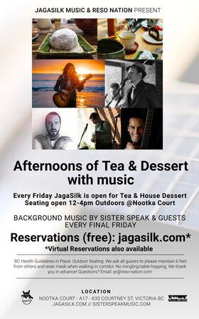 Afternoons of Tea and Dessert with Music @JagaSilk (Outdoors): Sister Speak @ Jagasilk (Outdoors) Jun 25 2021 - Sep 27th @ Jagasilk (Outdoors)