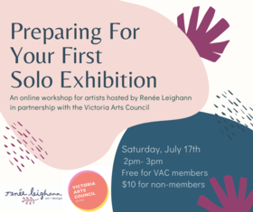 Preparing You First Solo Exhibition: renee leighann @ Online Jul 17 2021 - Sep 24th @ Online