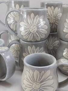 Flower Mugs by  Esther Drone