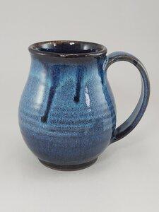 Blue/Black Glaze Mug by  Esther Drone