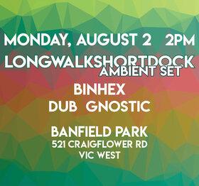 Wonderment Festival 2021 - Outdoors & In-Person: Longwalkshortdock, Binhex , dub gnostic @ Banfield Park Aug 2 2021 - Oct 16th @ Banfield Park