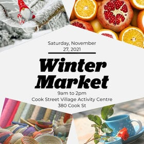 Holiday Market and Silver Bells Silent Auction @ Cook Street Village Activity Centre Nov 27 2021 - Sep 18th @ Cook Street Village Activity Centre
