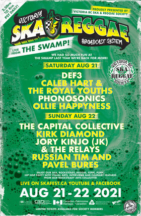 LIVE FROM THE SWAMP!: Def3, Caleb Hart & The Royal Youths, Phonosonics, Ollie Happyness @ The Swamp Aug 21 2021 - Sep 26th @ The Swamp