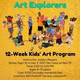 Art Explorers: Kids' Art Program @ Ladysmith Waterfront Gallery Dec 9 2021 - Oct 28th @ Ladysmith Waterfront Gallery