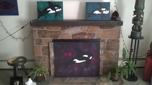Abstract Orca Collection by  Dana Burback