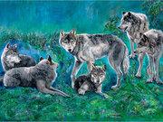 WolfFamily by  Carole Finn (OSA SFCA)