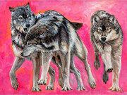 WolvesRunning by  Carole Finn (OSA SFCA)