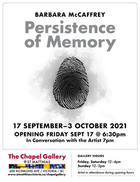 Persistence of Memory: Barbara McCaffrey @ The Chapel Gallery Oct 1 2021 - Oct 15th @ The Chapel Gallery